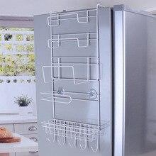 Холодильник стойки боковая полка боковой держатель многоцелевой кухонные принадлежности Организатор бытовой многослойная холодильник хранения