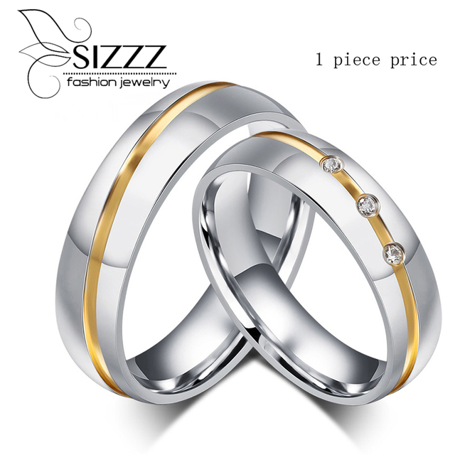 fashion jewelry 316l stainless steel silver simple circle real love couple ring wedding rings engagement rings - Circle Wedding Rings