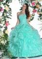 Menta vestido de Baile Puffy Quinceaneara Vestidos 2016 Cristais Lace-Up Voltar Querida Barato Doce 16 Princesa Vestidos de Baile Brilhantes