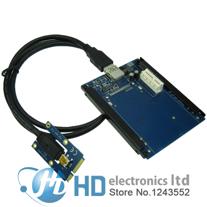 цена на Mini PCIe To PCI-e slots adapter PCI express 1x riser card supports Sound Card Network card graphics card
