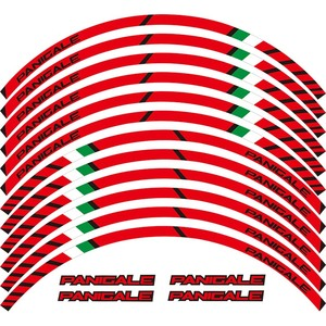 high quality motorcycle wheel decals Reflective stickers rim stripes For DUCATI 1299 PANIGALE S 959 PANIGALE
