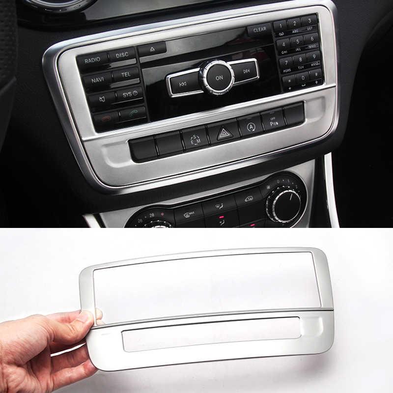Para Mercedes Benz GLA X156 CLA C117 A Control de clase aire acondicionado panel De CD cubierta decorativa adorno estilo de coche inoxidable de acero