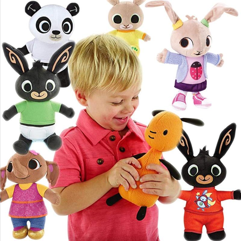Genuine Bing Bunny Plush Toy Sula Flop Hoppity Voosh Pando Bing Coco Plush Doll Peluche Toys Children Birthday Baby Gifts