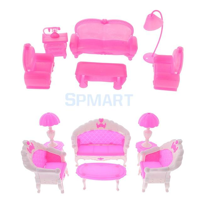 12Pcs/Pack Dollhouse Furniture Living Room Parlour Sofa Chair Lamp ...