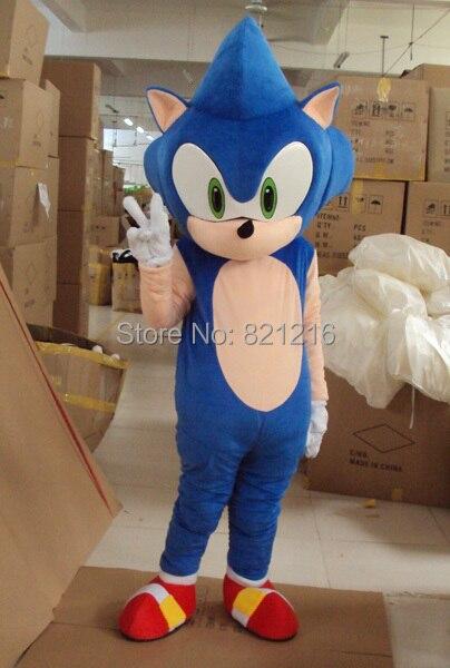 Haute qualité nouveau Sonic le Costume de mascotte hérisson mascotte sonique Costume Cosplay livraison gratuite