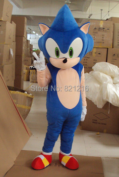 High Quality New Sonic the Hedgehog Mascot Costume Cosplay Free Shipping