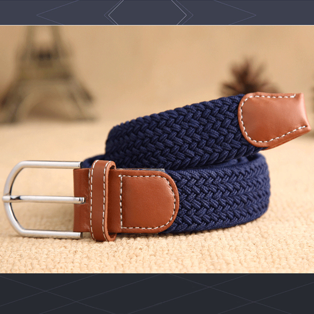 elastic belt knitted canvas belt decoration belt female pin buckle canvas strap women and man 2018 5