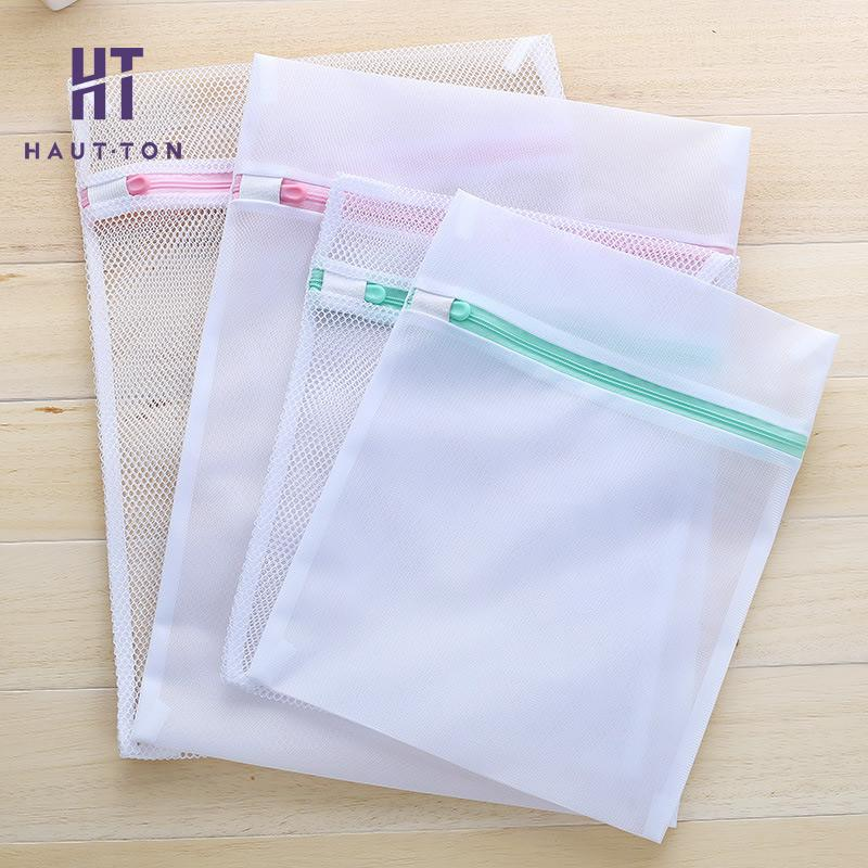 1 Pcs Laundry Storage Bag Zippered Wash Bag Foldable Lingerie Bra Socks Underwear Machine Clothes Protection Net F