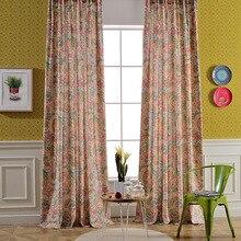 Шторы из хлопка и льна, Затемненные, для спальни, ткань, цветные, цветочные, жалюзи, занавески, для окна, Patoral Vorhang Cortinas для гостиной