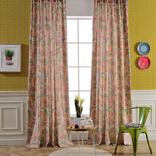Cotton Linen Curtains Blackout For Bedroom Fabric Colorful Floral Blinds Drapes Window Patoral Vorhang Cortinas For Living Room