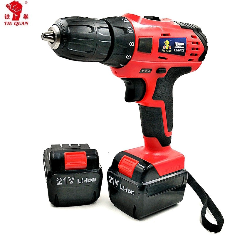 21v  Screwdrivers With 2 Batteries Power Tools Double Speed Electric Drill Batteries Drill Mini Drill Screwdriver Power Tools