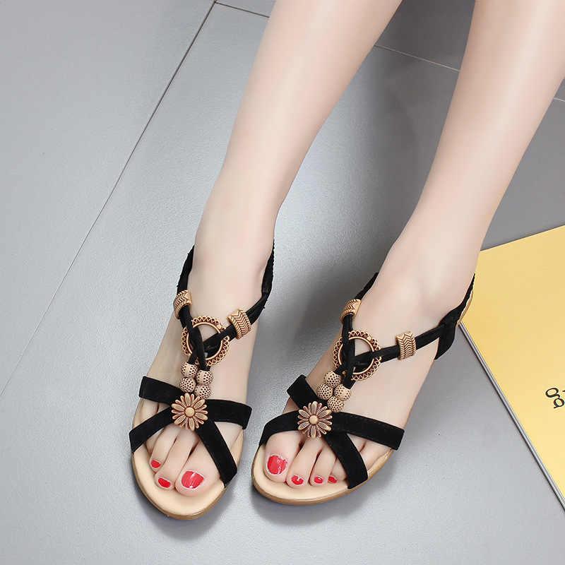 run shoes sells shop best sellers White Black Gladiator Sandals Women Summer Fashion Bohemia String ...