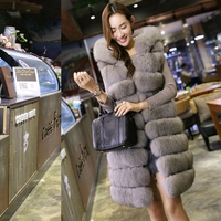 Hot Faux Fur Vest Women Hooded Cap Autumn Winter Sleeveless Jacket Coats Thicken Warm Fake Fox Fur Coat Casual Colete Waistcoat