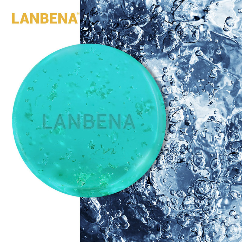 LANBENA Handmade Soap Hyaluronic Acid Face Cleaning Moisturizing Acne Treatment Repair Whitening Anti-Aning Winkles image