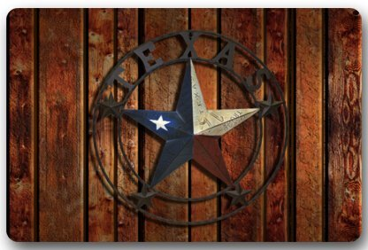 CHARMHOME Western Texas Star Door Mats Cover Non Slip Machine Washable  Indoor Bathroom Kitchen Decor