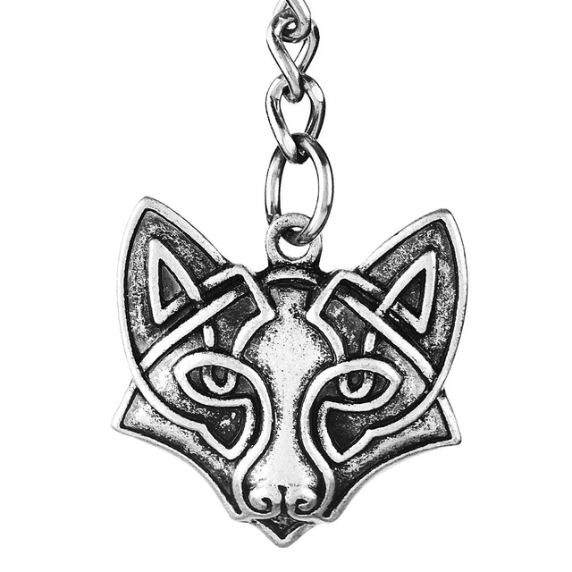 US $2 99 |1pc Fox Pendant Keychain Norse Viking Original Animal Amulets and  Talismans Best Friend Jewelry-in Key Chains from Jewelry & Accessories on