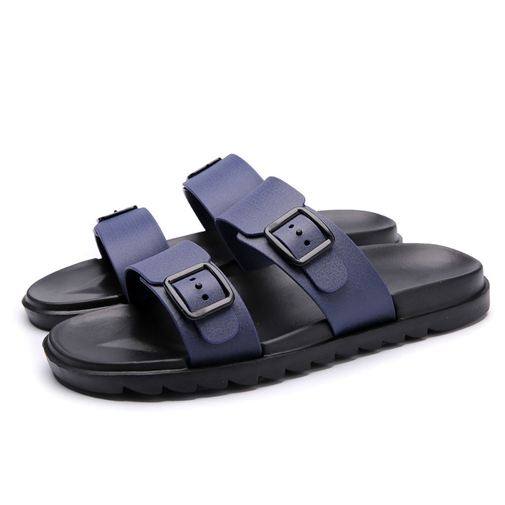 Summer Slippers Men Casual Sandals Leisure Soft Flip-Flops Beach Slippers Comfortable Footwear Shoes Men's Sandals Flip Flop kenneth cole reaction women s beauty in belize skirted bikini bottom