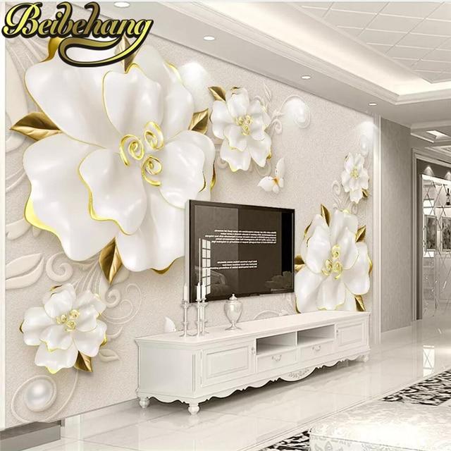 Beibehang Personalizzato Foto Muro Di Carta 3d Di Arte Murale Hd