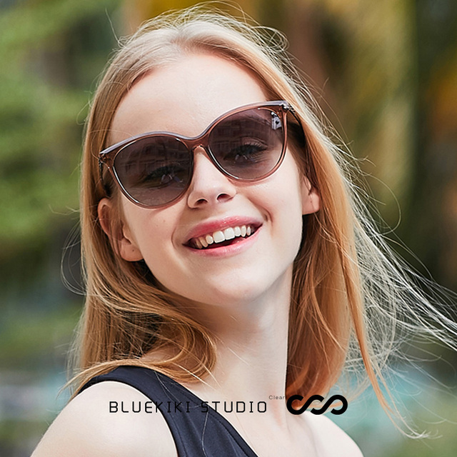 4956b0bd8 KIKI 2019 Polarized Women Sunglasses Fashion Female Large Round Frame Brand  Designer Retro Cat Eye Sun Glasses Woman Eyewear