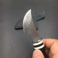 High Quality Damascus Handmade Hunting Knife Damascus Steel Horn Cavel Handle Hunting Survival Knives Camping Faca