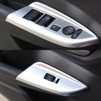 4x Car Armrest Window Lift Switch Button Panel Cover Trim Styling For Honda Fit 2014 Car covers Interior Accessories