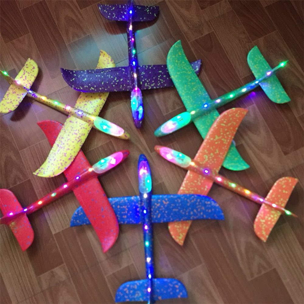 Hand throw airplane EPP Foam Outdoor Launch Glider Plane Kids Toys 48 cm Interesting Launch Throwing Inertial Model Gift funnyHand throw airplane EPP Foam Outdoor Launch Glider Plane Kids Toys 48 cm Interesting Launch Throwing Inertial Model Gift funny