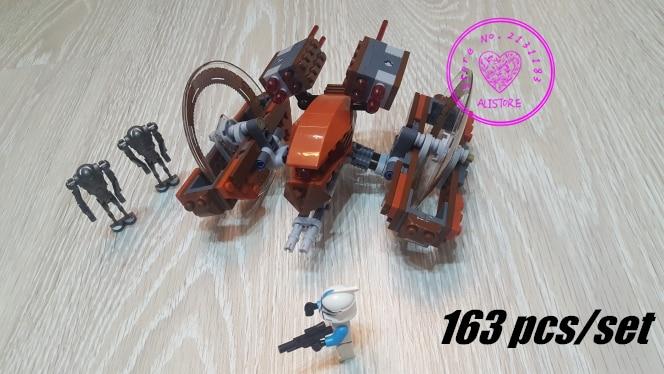 10370 Star wars model Building Blocks Toys Attack Clones Hailfire Droid Exclusive Bricks 75085 compatiable legoes kid gift set