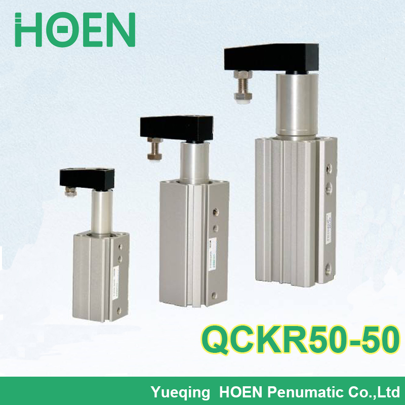 QCKL50-50 QCKR50-50 Airtac type Double Acting Rotary Clamp Cylinder QCK series pneumatic cylinder high quality double acting pneumatic gripper mhy2 25d smc type 180 degree angular style air cylinder aluminium clamps