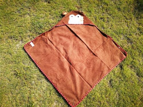 Детское банное полотенце с квадратным капюшоном с изображением совы и лисы/пляжные полотенца для детей - Цвет: monkey