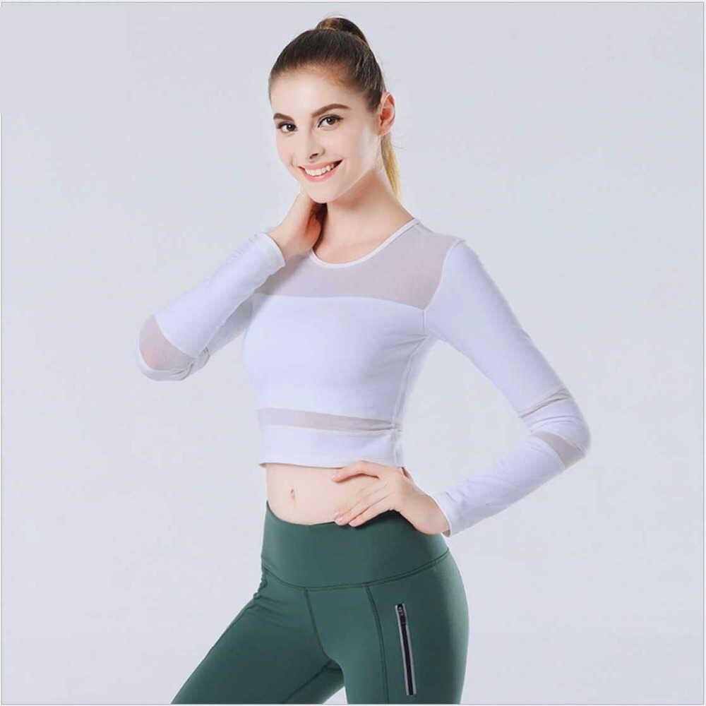 Hihg minőség Slim Full Sleeve Gym Fitness póló Légáteresztő - Sportruházat és sportolási kiegészítők - Fénykép 2