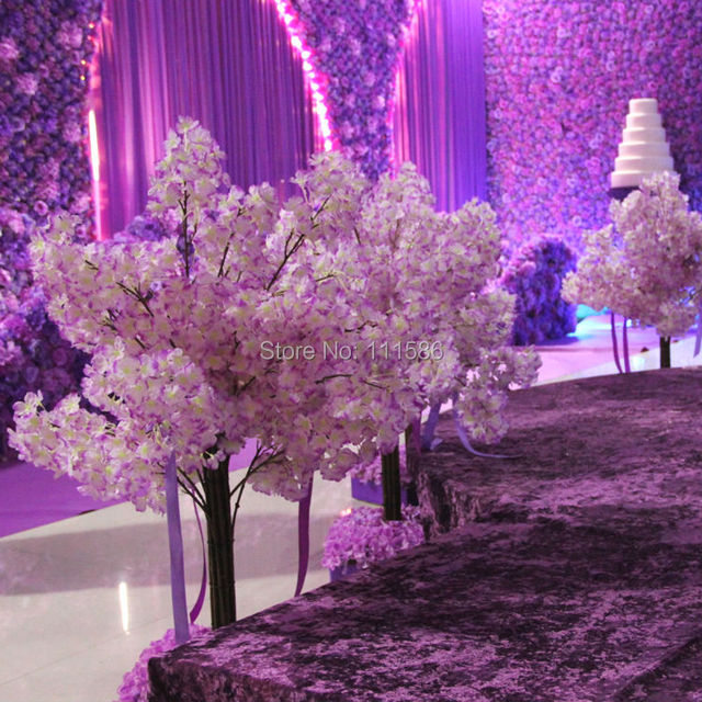 2017 new 2pcs lot artificial flower cherry blossom for Artificial flowers for home decoration india