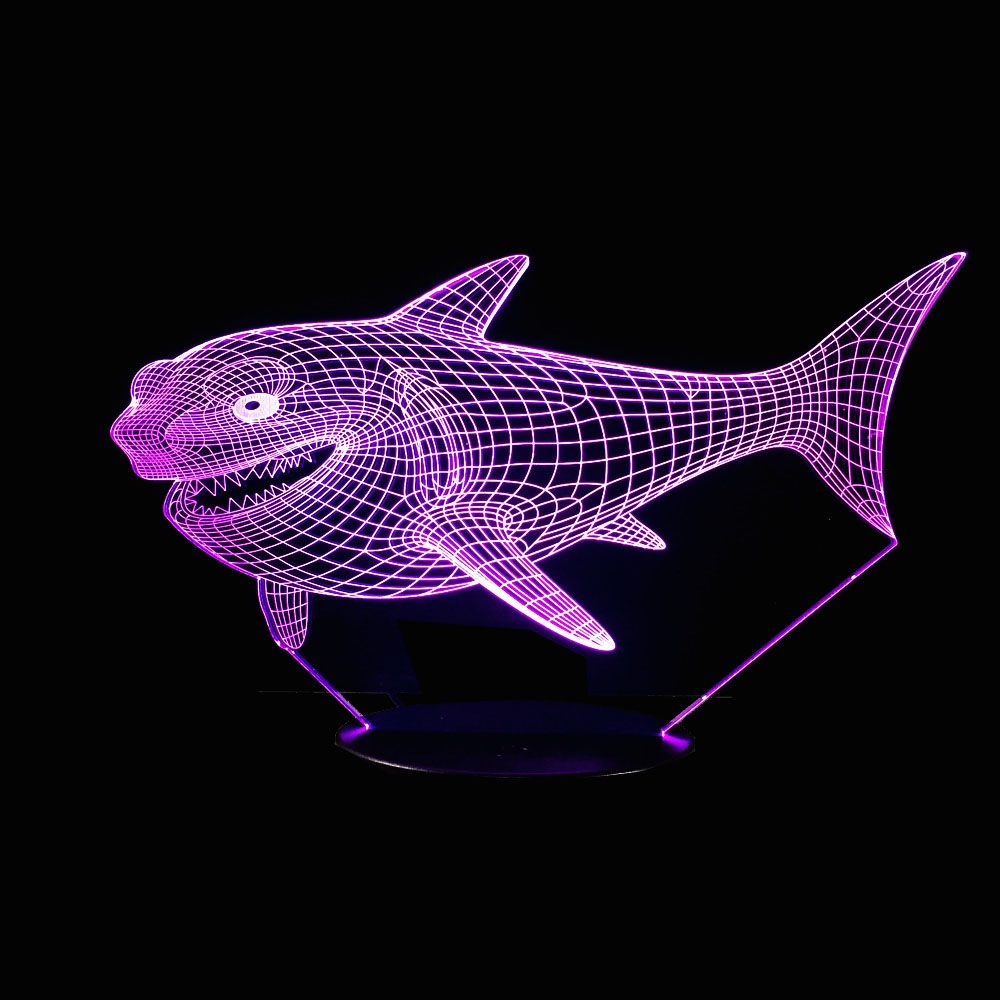 Animals Shark 3D Night Light Touch Table Desk Lamps 7 Color