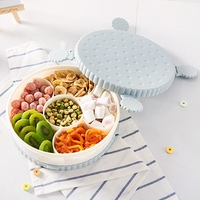 Creative Biscuit Shape With Lid Snack Tray Plastic Organizer Roation Boxes Food Storage Vacuum Boxes Food