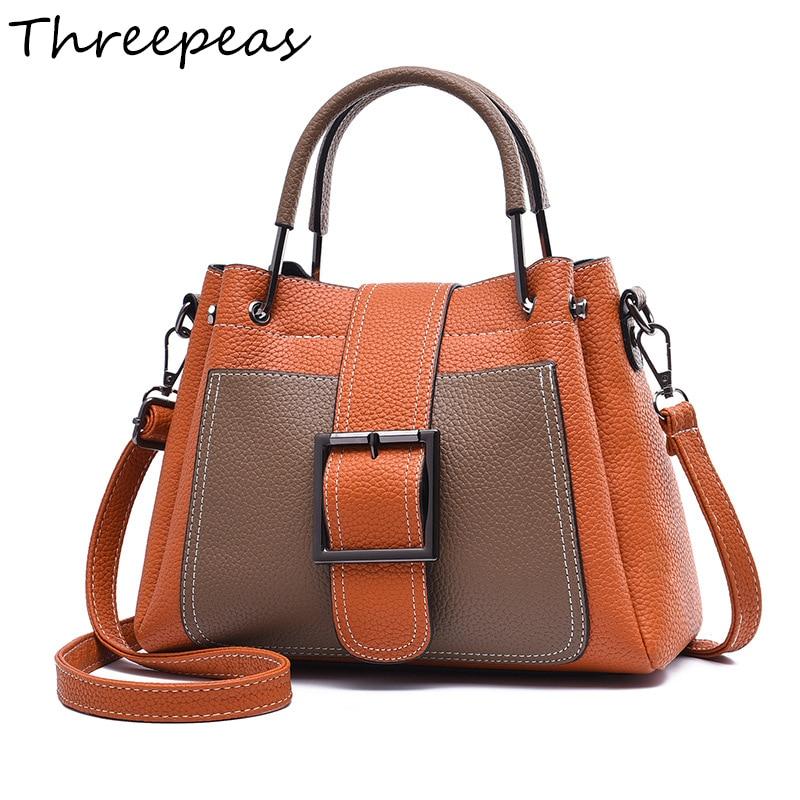 THREEPEAS new arrival fashion women handbag pu leather messenger bag shoulder bag 2017 new arrival fashion women handbag 100