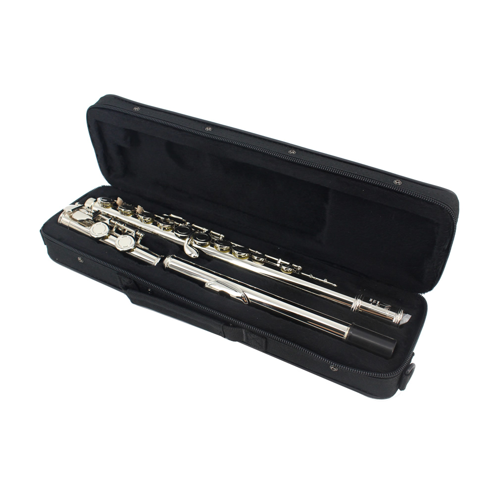 16 Holes Key of C Flute Cupronickel Nickel Plated Flauta Woodwind Music Instrument Dizi with Case Cleaning Cloth Stick Screwdriv 16 holes c key flute cupronickel plated silver woodwind instrument with cork grease cleaning cloth gloves padded case