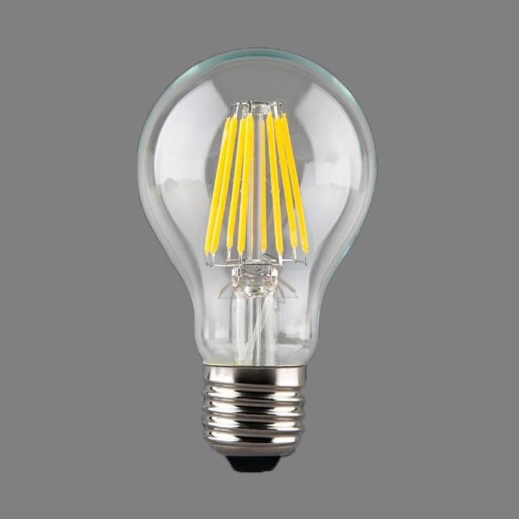 1x E27 LED Filament Light Bulb Lamps 230V 220V 4W - 8W 360 Degree Retro Candle Lamp Lighting Edison A60 White/ Warm white cob chip led light vintage edison bulb e27 g125 4w 6w 8w filament lamp led globe light bulb warm white lighting ac220v