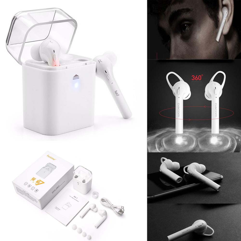 Twins True Wireless Bluetooth Stereo In-Ear Earphone Earbuds with intelligent charging box for iphone X 7 7plus  Huawei Xiaomi gieftu true wireless earbuds twins x2t mini bluetooth csr4 2 earphone stereo with magnetic charger box case for mobile phone