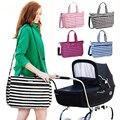 Multifuncional Bolsas de Pañales bolsa de Cochecito de Alta Calidad de Maternidad Madre Bolso de la Momia Bolsas de Pañales Mamá Raya para el Cuidado Del Bebé