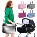 Multifunctional Diaper Bags Stroller bag High Quality Maternity Mummy Nappy Bags Stripe Mom Handbag Mother Bag for Baby Care