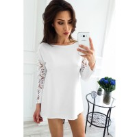 Zmvkgsoa Female Clothes New 2017 Autumn Women Style Lace Top Long Sleeve Hollow Out Blouses Tops