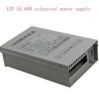 Toptan En Iyi fiyat DC 12 V 5A 60 W Yağmur Geçirmez Anahtarlama Düzenlenir Güç Kaynağı açık güç CCTV PSU