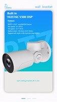 Waterproof IP66 Small IP66 Pan Tilt Zoom Bullet Camera H 265 Onvif Sony P2P PTZ CCTV