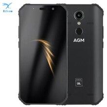 "AGM A9 Co Branding UFFICIALE RAM 4GB 5.99 ""Android 8.1 Telefono Cellulare Robusto 5400mAh IP68 Smartphone Impermeabile quad Box Altoparlanti NFC"