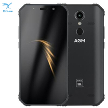 "OFFICIAL AGM A9  Co Branding RAM 4GB 5.99"" Android 8.1 Rugged Phone 5400mAh IP68 Waterproof Smartphone Quad Box Speakers NFC"