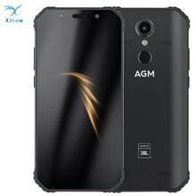 """公式 agm A9 共同ブランディング ram 4 ギガバイト 5.99 """"アンドロイド 8.1 頑丈な電話 5400 mah IP68 防水スマートフォンクアッドコアボックススピーカー nfc"""