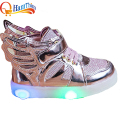 New Boys Girls Led Light Up Luminous Glowing Children Shoes For Kids PU Leather Sneakers Flats With Heels Sports Shoe Size 21-30