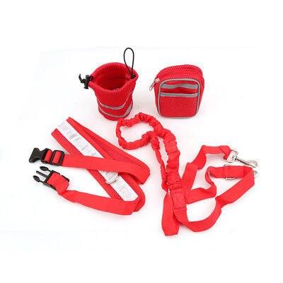 f1d9727ad29 Lekexi Nylon Elastic Belt Running Dog Leash Set Hands Free Dog ...