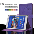 New Print Fold PU Leather MagSmart Closure Protective Case Folio Stand Cover For Sony Xperia Z3 Tablet Compact SGP621/ 641 8.0""