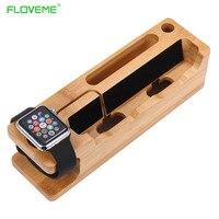 Drewniany uchwyt stojak dla iphone 7 stacja dokująca do ładowania telefonu komórkowego Plus 6 6 S Plus 5 5S SE Na iWatch Telefon Komórkowy Holder stojak
