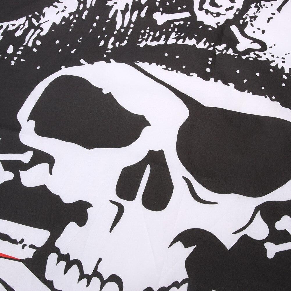 4.9x2.9ft cráneo y Cross Crossbones Sabres Espadas Jolly Roger ...
